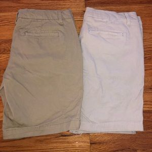 Aeropostale Khaki Shorts 2 Pair Bundle